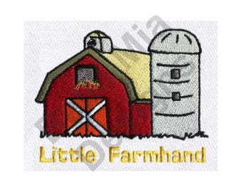 Barn - Machine Embroidery Design, Farm, Little Farmhand