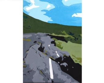 ACEO Original Painting: Road to Nowhere