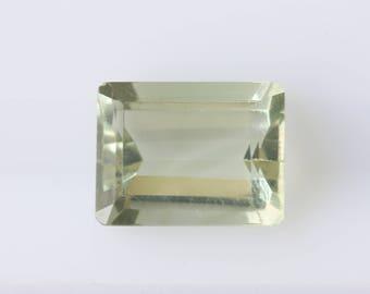 2.39 ct Emerald Cut Prasiolite Gemstone, Emerald Cut Loose Gemstone, Natural Prasiolite, Loose Green Amethyst, Faceted Green Quartz, Gem