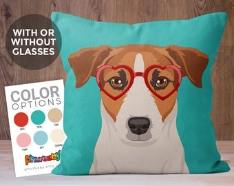 Jack Russell Terrier Pillow   Wife Gift   Dog Pillow   Boyfriend Gift   Fiance Gift   Gifts Under 25   Funny Dog Pillow   Pet Memorial Gift