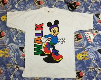 Vintage 80s 90s New with Tags Mickey Mouse Disney Deadstock T Shirt Size Large