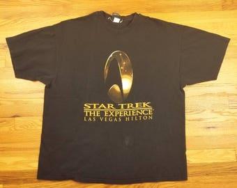 Vintage 90s Star Trek The Experience Maiden Voyage Stardate T Shirt Size XXL XL