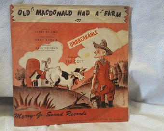 Vintage Merry-Gi-Sounds 78rpm record Old McDonald