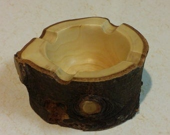 Natural Edge Hand Turned Wood Ashtray
