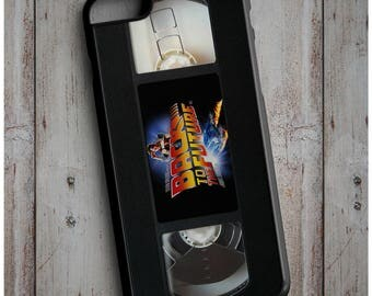 Back to The Future Retro VHS Tape Cassette 80s 90s Old School Print Cool New Case Cover for any iPhone