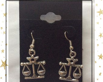 Libra zodiac earrings