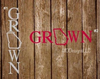 Home Grown Decal - Grown State Decal - Country Grown Decal