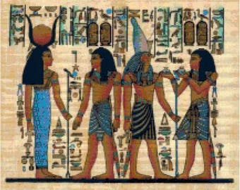 Egyptian art etsy for Ancient egyptian mural paintings