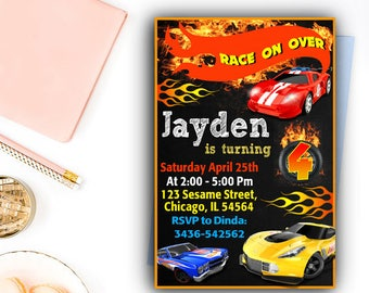 Hot Wheels Birthday Invitations, Hot Wheels Birthday, Hot Wheels Party, Hot Wheels Invitation, Hot Wheels Birthday Party