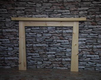 Thick Solid Pine Fire Surround - narrowing to top all Hand made