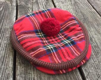 Red Plaid Scottish Tam by Autofit