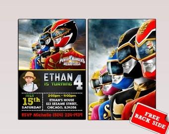 Power Ranger Invitation,Power Ranger Birthday,Power Ranger Party,Power Ranger Birthday Invitation,Power Ranger Invite