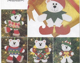 Butterick 4604 - VINTAGE - Christmas Bear Ornaments
