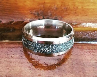 Ring..stainless & German glass glitter