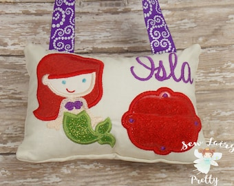 Girls Personalized Tooth Fairy Pillow * Monogrammed Tooth Fairy Pillow * Tooth Fairy Gift Ideas * Princess Tooth Fairy Pillow for Girls