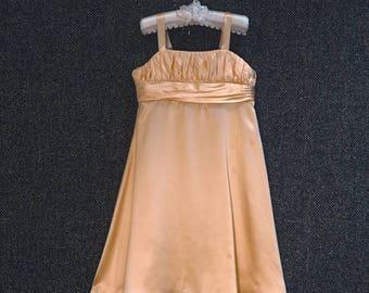 Maya beautiful handmade silk satin flowergirl dress