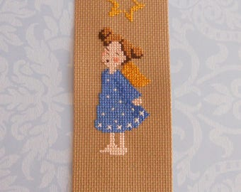 Bookmark girl Angel in the stars