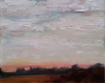Dreamy Skyscape - original oil painting