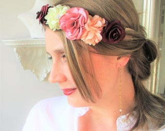 Headband/Crown of flowers-wedding, ceremony, Maid of honor-spirit retro and Bohemian.