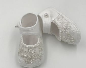 Girls Couture Christening, Baptism Shoes