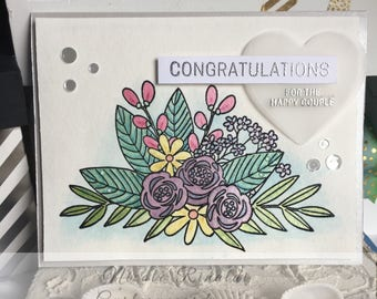 Wedding Card Hand Painted