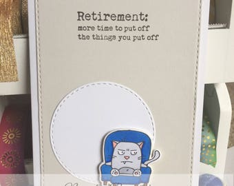 Retirement Card with Cat