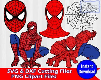 Spiderman Bundle Download, Spiderman Digital Clip Art, Spiderman SVG, PNG Files, SVG Files for Silhouette Cameo, Print and Cut, Cricut