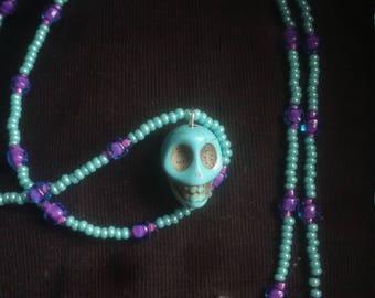Color portfolio for funky skull necklaces