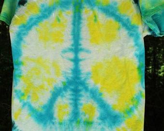 Peace Sign Tie Dye shirt, Peace Tie Dye Shirt, Festival Tie Dye Shirt, Hippie Tie Dye Shirt, Hippie Festival Wear