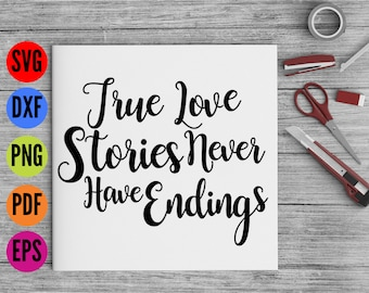 True Love Story SVG, Wedding SVG, Hand Lettered Svg, Wedding Script SVG, Vinyl Cutting Files, Dxf, Wedding Font Svg Fonts for Cricut,