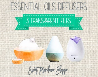 Essential Oil Diffusers, Essential Oil Clip Art, Essential Oil Diffuser Clipart, Diffuser Clipart, Instant Download