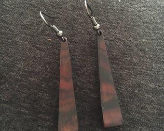 Handmade Wooden Dangle Earring