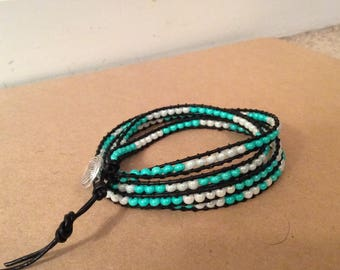 4 Wrap Beaded Bracelet