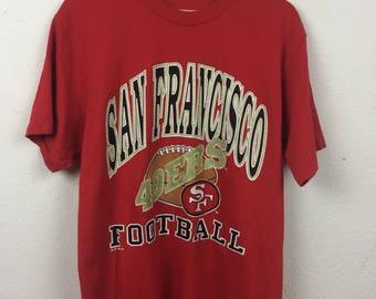Vintage 90s San Francisco 49ers SF NFL T Shirt Size L