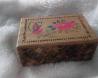 5 Step Vintage Japanese Puzzle Box WW2 1940s