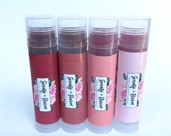 Organic Tinted Lip Balm | 100% Natural | Serenity + Blossom