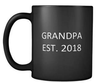 Pregnancy Announcement Mug Grandpa