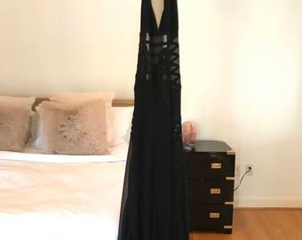 Jean Paul Gaultier Black Halter Gown, Low Back with Side Slit.