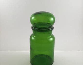 Green Glass Apothecary Jar