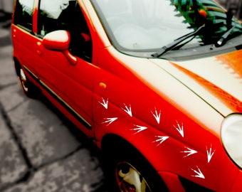 12 x Birds Footprints vinyl sticker car van decal