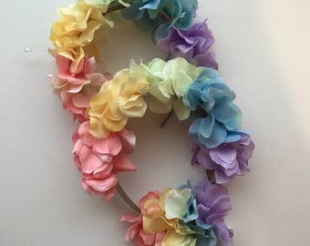 Rainbow Floral Headbands