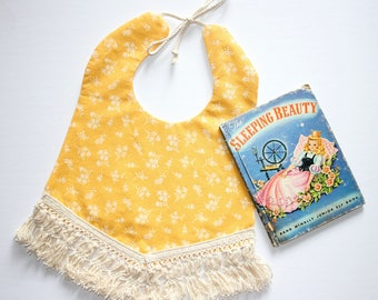 "Sadie boho bib in ""You are my Sunshine"" print"