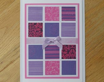 All Bright Colours Patchwork Greetings Card