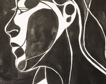 Ink Abstracted Portrait