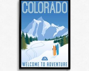 Colorado travel canvas art print poster