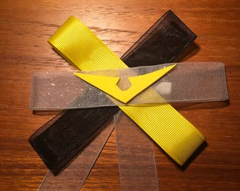 Voltron Hunk inspired hand crafted hair bow.
