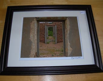 Shotgun House in Ruby, Arizona - Framed, Signed and Numbered 8x10 (12x15 framed)