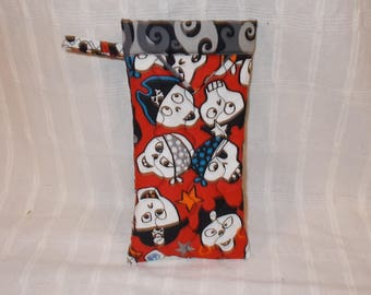 Skulls with Hats Eyeglass Pouch - Free Shipping