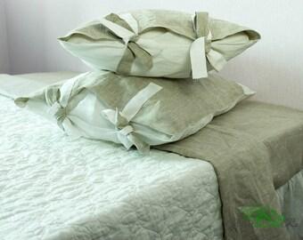Pillowcases with strings, queen pillowcase, natural pillowcase, queen pillowcase, king, standsrd, flax pillow case