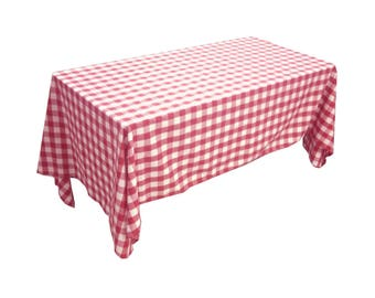 Charming Lovemyfabric Gingham/Checkered Cotton Blend Italian Restaurant Style  Tablecloth/Overlay For Picnic Party And